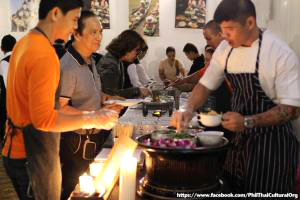 Ambassador attended Songkran Thai Food Gala Buffet at Rockwell Tent, Rockwell Center